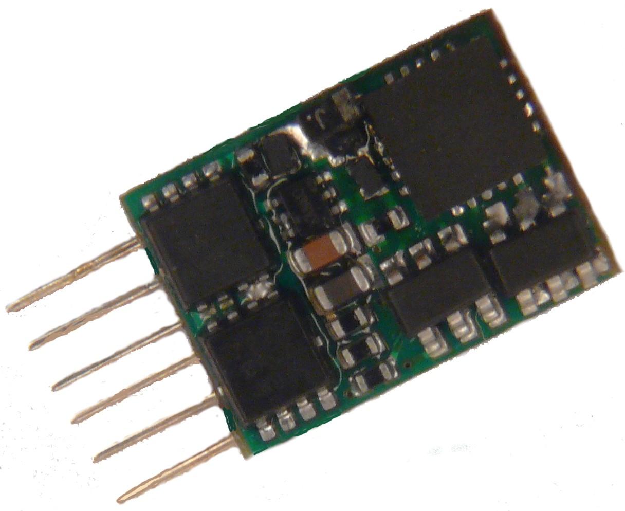 ZIMO MX622N Decoder 0,8A NEM-651 NMRA DCC MM Motorola 6 pol Spur N