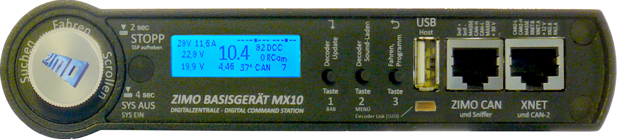 MX10-Frontpatte